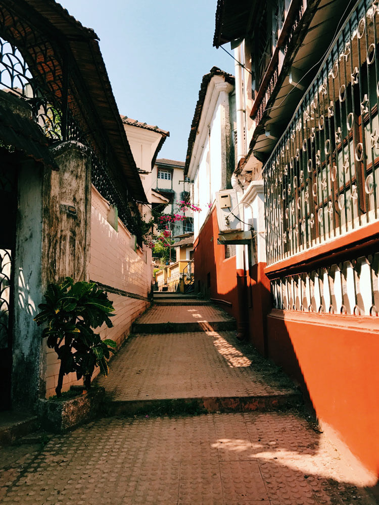 Fontainhas, Panjim, Goa, India